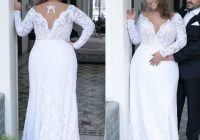 discount 2020 vintage plunging v neck wedding dress backless Plus Size Non Traditional Wedding Dresses