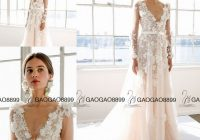 discount gorgeous marchesa bridal spring long sleeve wedding dresses with floral applications plus size v neck a line garden bridal wedding gown a Marchesa Wedding Dress s