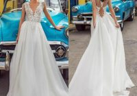 discount lorenzo rossi princess wedding dresses with tassels lace top v neck chiffon bridal gown sweep train beach wedding dress plus size wedding Lorenzo Wedding Dresses