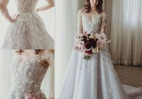 discount paolo sebastian 2020 wedding dresses long sleeve bridal gowns glamorous 3d floral appliqued lace tulle wedding dress robe de marie classic Paolo Sebastian Wedding Dress