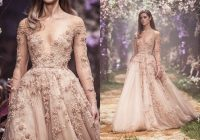 discount paolo sebastian illusion a line wedding dress sheer neck lace appliques handmade flower long sleeves country wedding dresses bridal gowns Paolo Sebastian Wedding Dress s