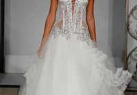 discount pnina tornai a line wedding dresses 2020 sheer sweetheart corset bodice charming beaded appliques lace tulle bridal gowns 794 sweep train Pnina Tornai Corset Wedding Dresses