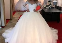 discount sheer neck long sleeves a line wedding dresses with lace appliqued tulle floor length princes wedding gown bridal dresses cheap wedding Princes Wedding Dresses