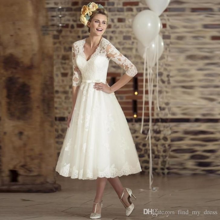Permalink to Beautiful 1950s Tea Length Wedding Dress Ideas