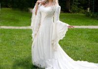 discount vintage gothic wedding dresses a line bell long sleeve lace renaissance medieval halloween costume 2020 plus size wedding gowns sexy wedding Renaissance Wedding Dresses Plus Size
