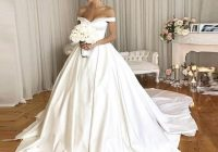 discount vintage wedding dresses 2020 with pockets off the shoulder royal simple bridal gowns v neck back button pretty wdding gowns chiffon wedding Prettyco Wedding Dresses