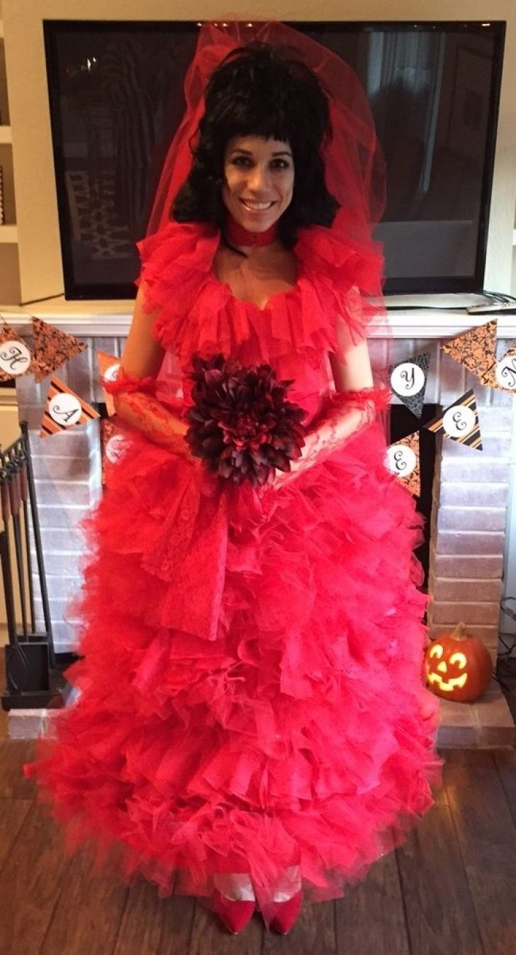 Permalink to Elegant Lydia Deetz Red Wedding Dress