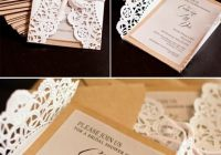 diy lace doily wrapped invites handmade diy vintage Dyi Wedding Invites
