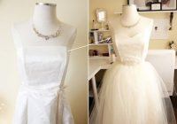 diy wedding dress in the making dress makeover upcycled Thrift Store Wedding Dresses