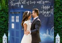 doctor who wedding dr who party sign tardis wedding decor doctor who decor wedding backdrops photo prop engagement w a102 tp aa3 nr2d Tardis Wedding Dress