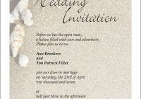 download beach wedding invitation wording wedding corners Beach Wedding Invite Wording