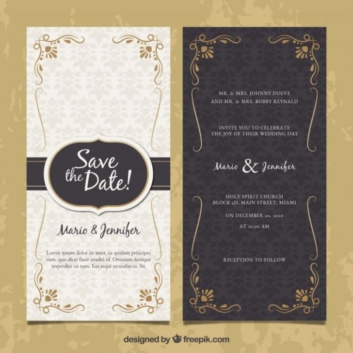 Permalink to Two Sided Wedding Invitations