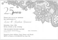 elegant lace silver anniversary invitation 25th Silver Wedding Anniversary Invitations