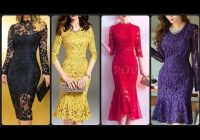 Elegant most beautiful lace fit flared dresses lace bodycon dresses ideas Pretty Latest Dress Patterns With Lace Ideas
