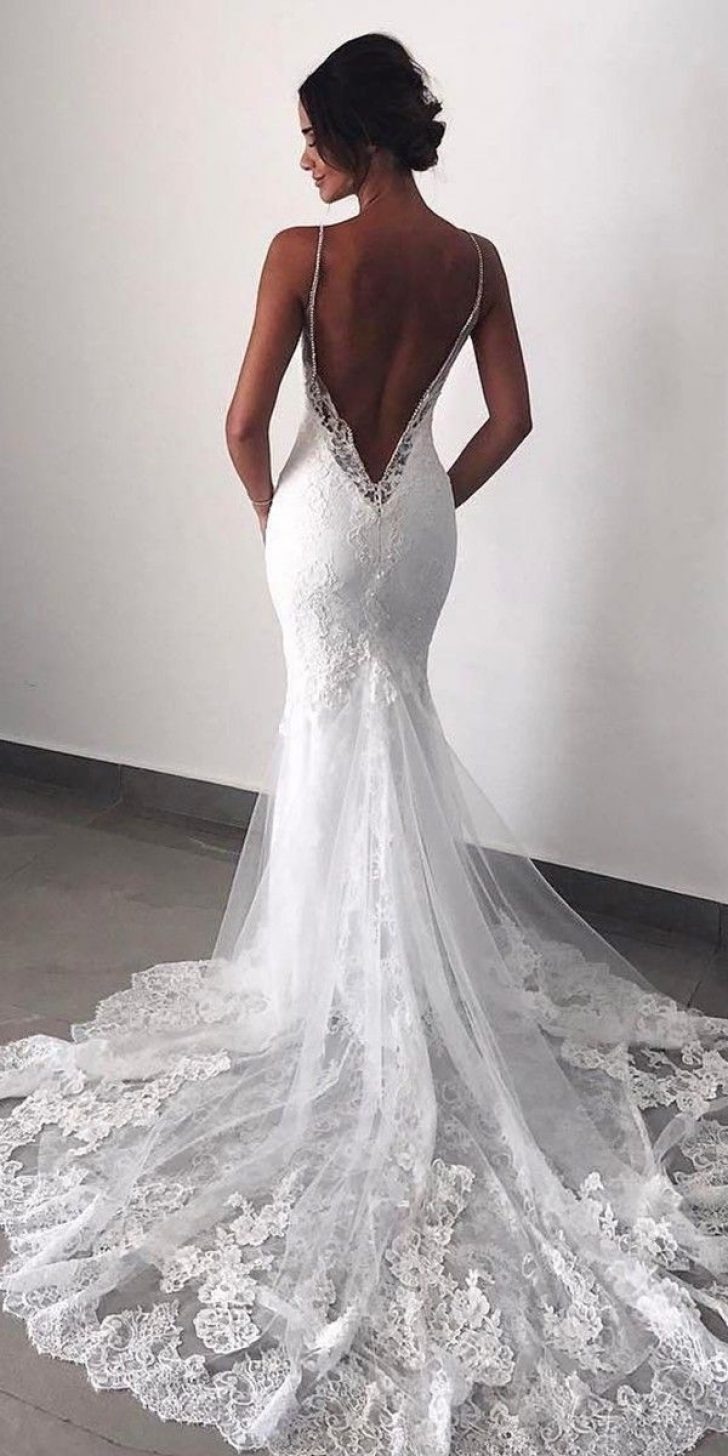 Permalink to Pretty Backless Lace Wedding Dress Designs