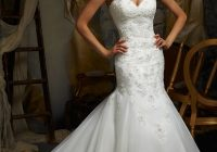 embroidered and beaded lace on net morilee bridal wedding Mori Lee Blu Wedding Dresses