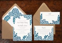 emma pauls floral block printed wedding invitations Wedding Invitations Printed