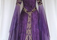 eve a celtic elvish medieval pagan wedding gown with applique decoration Wiccan Wedding Dresses