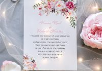 exquisite pink floral uv printing wedding invitations on Printing Of Wedding Invitations