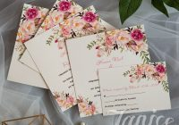 exquisite spring pink floral uv printing wedding invitations Online Printing Wedding Invitations