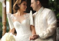 filipiniana inspired butterfly sleeves wedding dress and Traditional Filipino Wedding Dress