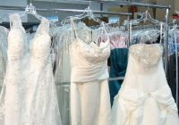 find designer dresses for less at goodwill bridal showcase Goodwill Wedding Dresses
