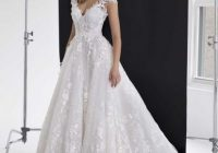 floral applique tulle ball gown Panina Wedding Dresses