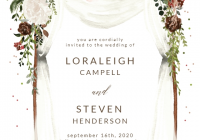 floral canopy wedding invitation template greetings Wedding Invite Layout