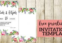 floral wedding invitation template paper trail design Wedding Invitations Printables