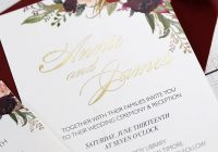 foiled floral wedding invitations bohemian burgundy and blush invitation cards set pwig003 pro wedding invites Where Do I Get Wedding Invitations