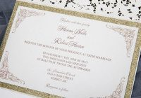 formal elegant ivory and champagne gold glittery pocket Invitations Weddings