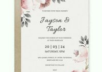 free vintage wedding invitation template word doc psd Wedding Invitation Templets