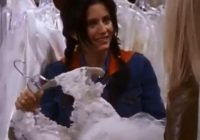 friends fans have noticed a massive error with monica Monica Geller Wedding Dress