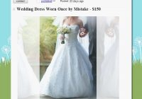 funny craigslist ads wedding dress worn once mistake Wedding Dresses Craigslist