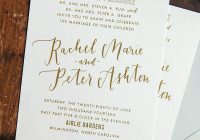 gold foil and calligraphy wedding invitations Wedding Invitations Wilmington Nc