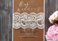 golden country lace with twine Lace Design Wedding Invitations
