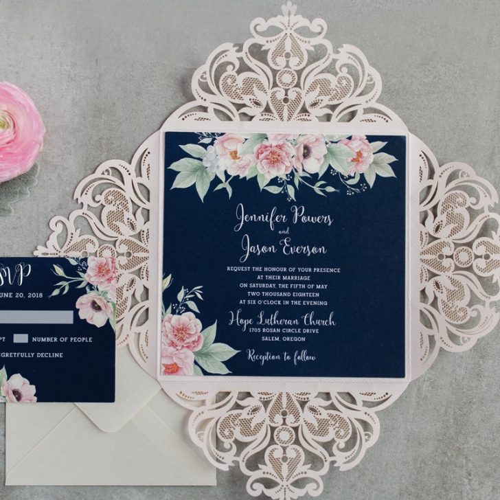 Permalink to Pink And Blue Wedding Invitations Gallery