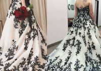 gothic black and white wedding dresses plus size vintage strapless bridal gowns ebay Gothic Plus Size Wedding Dresses