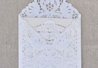 holiday inspiration chandeliers and champagne happy Paper Lace Wedding Invitations