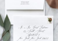 how to address wedding invitation envelopes fine day press How To Address A Wedding Invitation
