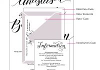 how to assemble wedding invitations How To Stuff Wedding Invitations