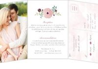 how to word wedding invitations invitation wording ideas Wedding Invitation With Pictures Of Bride And Groom