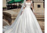 illusion long sleeves pretty wedding dresses ball gown Prettyco Wedding Dresses