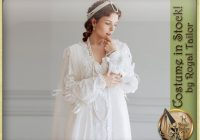 in stock renaissance white wedding dress ever after style 16th Century Wedding Dresses