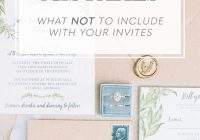 invitation mistakes what not to include on wedding What To Include In Your Wedding Invitations