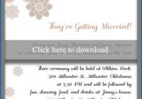 invitation wording for a casual wedding lovetoknow Wording For Informal Wedding Invitations