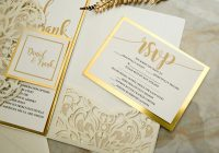 ivory laser cut pocket fold with modern invitation set on a Wedding Invitation And Rsvp Packages