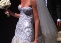 jaton silk pearls diamonte tulle wedding dress on sale 50 off J Aton Wedding Dress