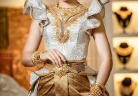 khmer wedding costume traditional dresses asian wedding Khmer Wedding Dress