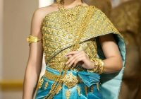 khmer wedding costume traditional outfits thai wedding Khmer Wedding Dress